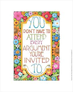 """Argument Invited"" Fine Print – Mary Engelbreit Studios"