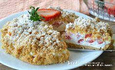 New York cheesecake al limone My Favorite Food, Favorite Recipes, Good Food, Yummy Food, Summer Cakes, Food Fantasy, Italian Desserts, Sweet Tarts, Strawberry Recipes