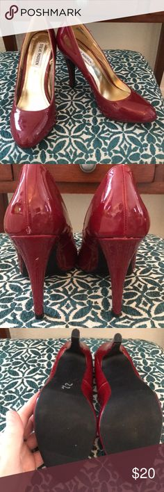 Steve Madden Heels Very lightly worn. A wine 🍷 red color. Very un noticeable scuffs as shown last two pics. Other than that excellent like new condition. Tags: Hollister. Free People. Boho. Gypsy. Festival. Hippy. Beach. PINK. Banana Republic. Buckle. H&M. American Rag. Pac Sun. Forever 21. RipCurl. Levi's. Vintage. Fossil. Victoria's Secret. Urban outfitters. Please Check out my adorable other listings! Happy Shopping! Steve Madden Shoes Heels