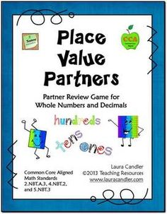 Place Value Partners is a game for math centers, cooperative learning partners, small guided math groups, or even whole class instruction. The concept is similar to the game Battleship with partners facing each other across a barrier. Instead of ships and a grid, they have a place value game board and number tiles or number cards.
