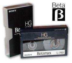 Sony irá descontinuar o formato Betamax
