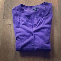 Banana Republic purple cardigan size small This was only worn once. Banana Republic Sweaters Cardigans
