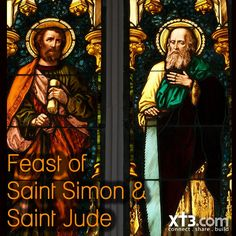 Happy Feast of Saints Simon and Jude who were 2 of the 12 Apostles: O God, through the work of the apostles you have spoken your Word of love, your Son, into our world's deafness. Open our ears to hear; open our hearts to heed; open our will to obey, that we may proclaim the good news with our lives. Amen.