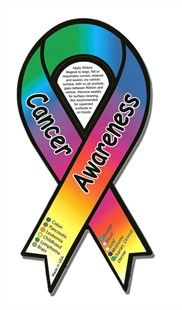 Cancer ribbon it all! Support...