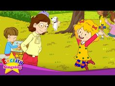 [Present progressive] What are you doing? I'm jumping. dancing. sleeping. - Easy Dialogue for Kids - YouTube