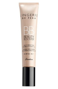 Guerlain Lingerie de Peau BB Cream SPF 30   The bio-fusion micro-mesh combination of linen and silk fibers creates a second-skin effect to boost the natural beauty of the skin as hyaluronic acid intensely hydrates for a younger-looking complexion.