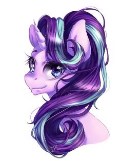 #1120172 - artist:iponylover, portrait, safe, simple background, solo, starlight glimmer, white background - Derpibooru - My Little Pony: Friendship is Magic Imageboard