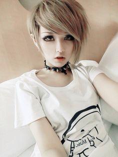 Talkingclothes, Kawaii, Gyaru, Japanese Lolita etc. Gyaru Fashion, Asian Fashion, Japanese Fashion, Cut And Color, Cut And Style, New Hair, Your Hair, Emo Scene Hair, Ash Blonde Hair