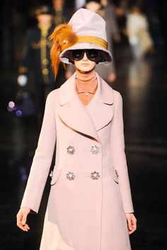 Louis Vuitton Fall 2012, lavender is my favorite color and I love this color combination!!