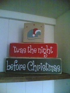 twas the night christmas block set