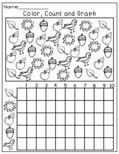 fall graph worksheet   Crafts and Worksheets for Preschool,Toddler and Kindergarten