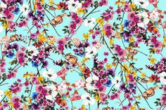 A sunny in Barcelona, a spring inspiration with the print 16016 color 2 of our Dolce Vita 2016 collection. In blue with flower pattern in pink and blue and squirrels. Visit also our facebook page for more inspirations: https://www.facebook.com/SwimwearFabricsAnnaLlopDisseny?ref=hl
