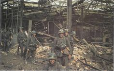German Soldiers inside the ruins of Stalingrad Tractor factory during the battle of Stalingrad Sept1942.