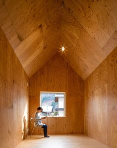 Architecture studio S Plus One has built a pair of matching micro homes in a Japanese village, one clad in cedar and the other clad with pine