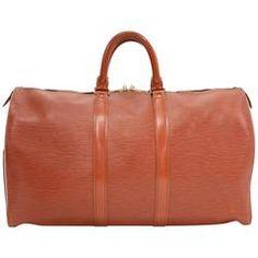 Vintage Louis Vuitton Keepall 45 Brown Kenyan Fawn Epi Leather Travel Bag