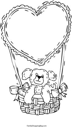 cute valentine coloring pages