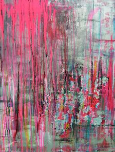"""Saatchi Art Artist: Pauline Remy; """"STREET PULSION""""- love the colours in this :)"""