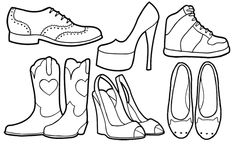 Teeny tiny shoe drawings Shoe Illustration, Illustrations, Art Sketchbook, Sketchbooks, Charts, Sketches, Teacher, Glamour, Future