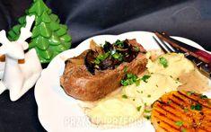 Szynka wolno pieczona w śmietanie i zsiadłym mleku Steak, Food, Essen, Steaks, Meals, Yemek, Eten