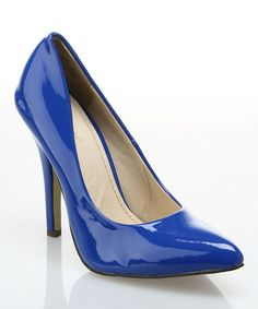 Take a look at this Cobalt Blue Patent Pump by Segolene Paris on #zulily today!