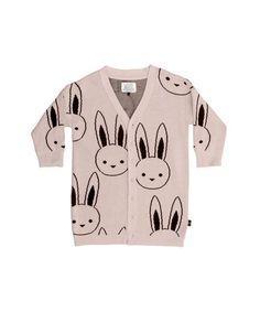 bunny knit cardi   Huxbaby