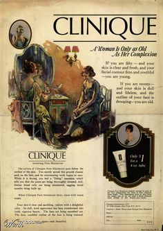 Clinique. Look, way back, and there's Clinique!