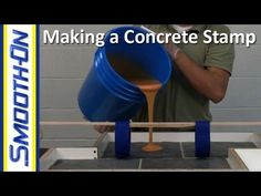 How to Make a Custom Concrete Stamp out of Urethane Rubber Concrete Casting, Concrete Stone, Concrete Cement, Concrete Projects, Stamped Concrete, Brick And Stone, Concrete Floors, Concrete Stamping, Diy Concrete Countertops