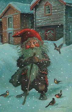 Inge Look Finland Norwegian Christmas, Scandinavian Christmas, Fairy Land, Fairy Tales, Christmas Art, Vintage Christmas, Illustrations, Illustration Art, Theme Noel