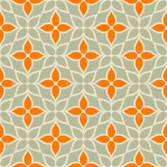Vintage vector geometric background, floral modern seamless pattern with cute flowers — Stock Vector #