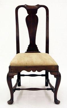 american period queen anne furniture | ... American-Queen-Anne-Mahogany-Boston-Massachusetts-Side-Chair-Circa