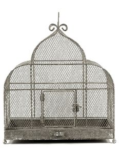 """Bird Cages Large 17"""" x 17"""" Metal Cage French Flea Market"""