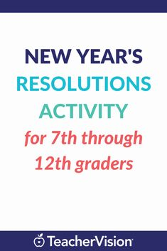 This holiday-themed activity teaches teens what New Year's resolutions are and why they should make them. Students make a list of personal resolutions in several categories (school, home, community, etc. Then, they write a schedule outlining how Goal Setting Activities, Holiday Activities, First Year Teachers, New Teachers, December Holidays, Lists To Make, Teaching Strategies, Teacher Hacks, Resolutions