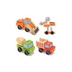 Dřevěná nákladní auta sada 3 kusy od Melissa & Doug
