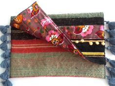 handmade boho clutch bag