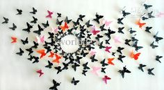 12pcs/lot 8*8cm 3D vivid Butterfly Wall Sticker Decor Pop-up Sticker Home Room Decorations 10 color
