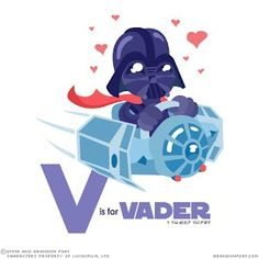 V is for Vader...Tanner is going to love this!