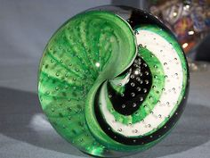 Paperweights Contemporary Art Glass James Alloway 3 2inch Dichroic