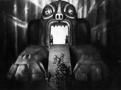Freder's hallucination in the machine room. We've come full cycle from Futurism. Now technology demands human sacrifices. --Fritz Lang, Metropolis