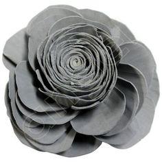 Balsa Wood Flowers - Light Grey Lola (steel). Available at   http://www.angelaromatics.com.au/fragrant-flowers/all-flowers-and-shapes/balsa-wood-flowers-grey-lola