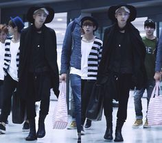 Rap Monster from Bts twitter airport fashion