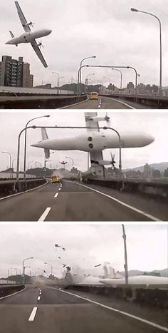 One more airline disaster. This one occurred with TransAsia 3 minutes after takeoff.