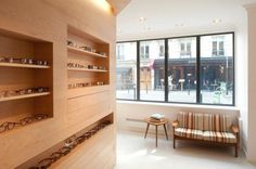 La Galerie de Lunettes is a minimal optical store located in Paris, France, and designed by Dumazer & Lafallisse. (9)