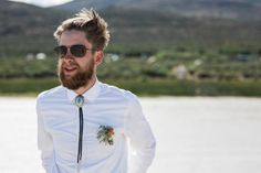 Loving this groom's bolo tie  | Image by Free The Bird