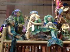 Treasures of the Gypsy~ mermaids by Frowning Francis and Christine Shively Soft Sculpture, Figurative, Mermaids, Art Dolls, Doll Clothes, Attitude, Gypsy, Spirit, Teddy Bear