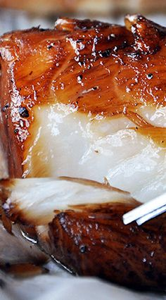 Remember to marinate it the night before. Baked Honey-Marinated Cod