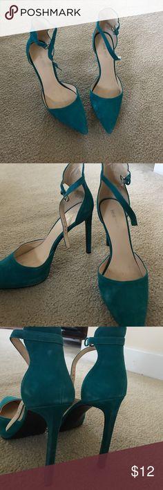 Nine West swede heels Blue platform high heels. Only worn 4-5 times. Nine West Shoes Platforms