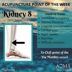 #TipTuesday: #Acupuncture Point of the Week, Kidney 8!  #tcm #integrativehealth