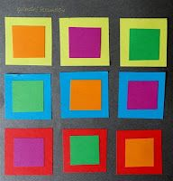 Following Color theory part one a lesson about the effect that colors have on each other.     The aim of this lesson is that students discover the effect of primary and secondary colours on one another