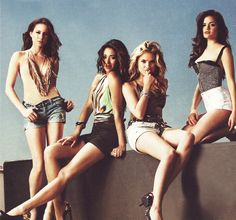 Pretty Little Liars. Left to right: Troian Bellisario, Shay Mitchell, Ashley Benson, and Lucy Hale.