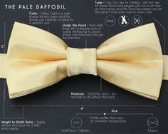 Gold Bow Tie  Groomsmen BowTies  Yellow Bow by PowderandJadeBridal